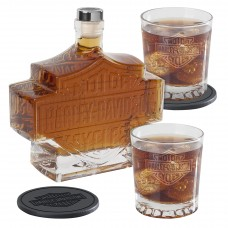 H-D Bar & Shield Decanter Set