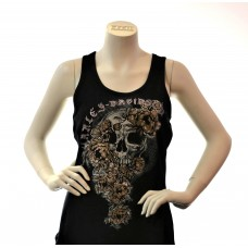 Tanktop Skull Roses
